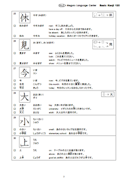 Basic Kanji 120 (Free E-mail lesson) | MLC Japanese Language