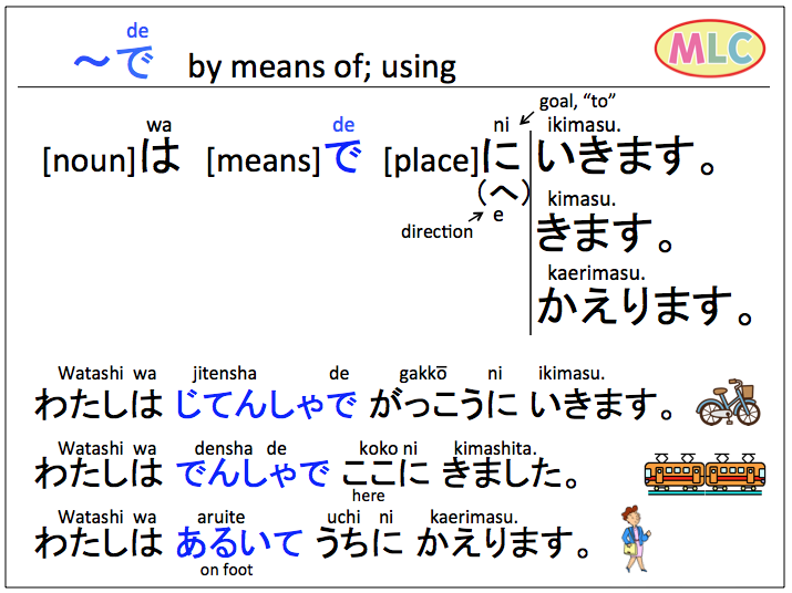 de by means of using mlc japanese language school in tokyo